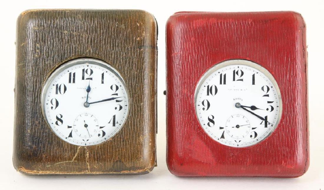 (2) TIFFANY & CO. (8) TRAVEL CLOCKS