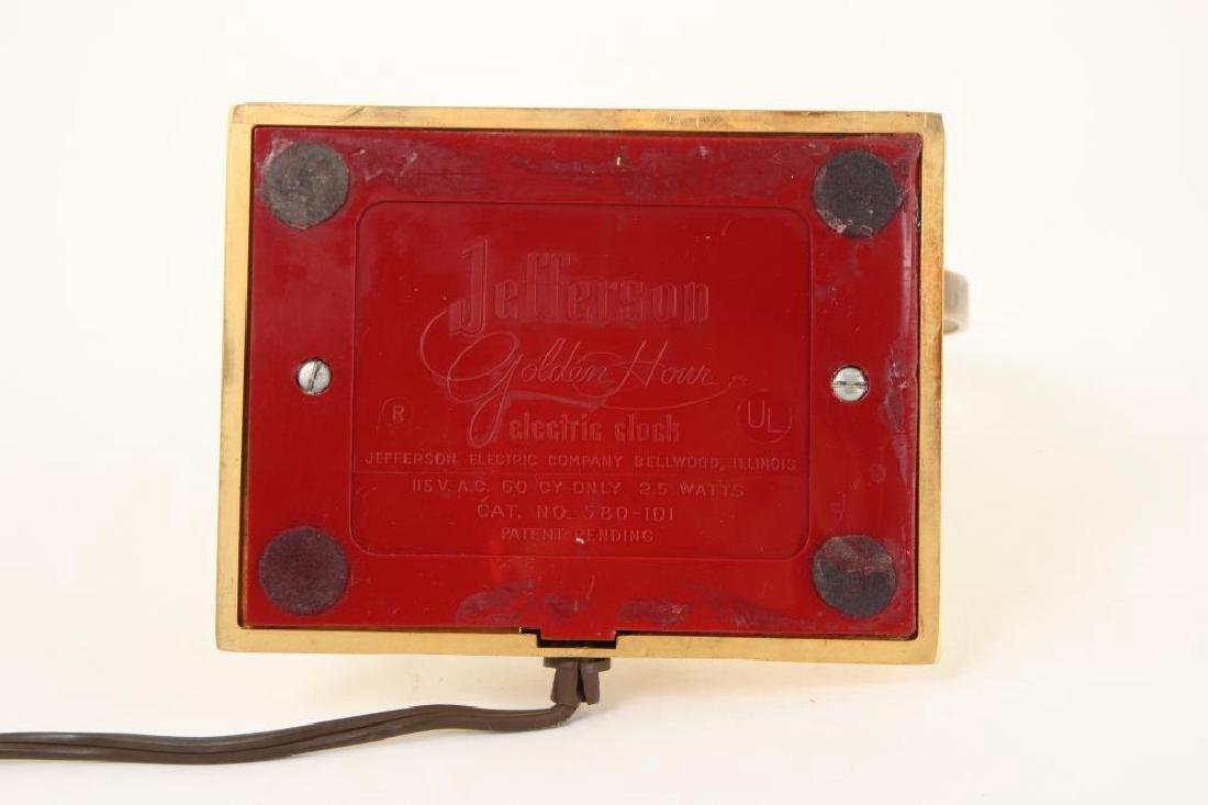 MID CENTURY JEFFERSON GOLDEN HOUR ELECTRIC CLOCK - 7