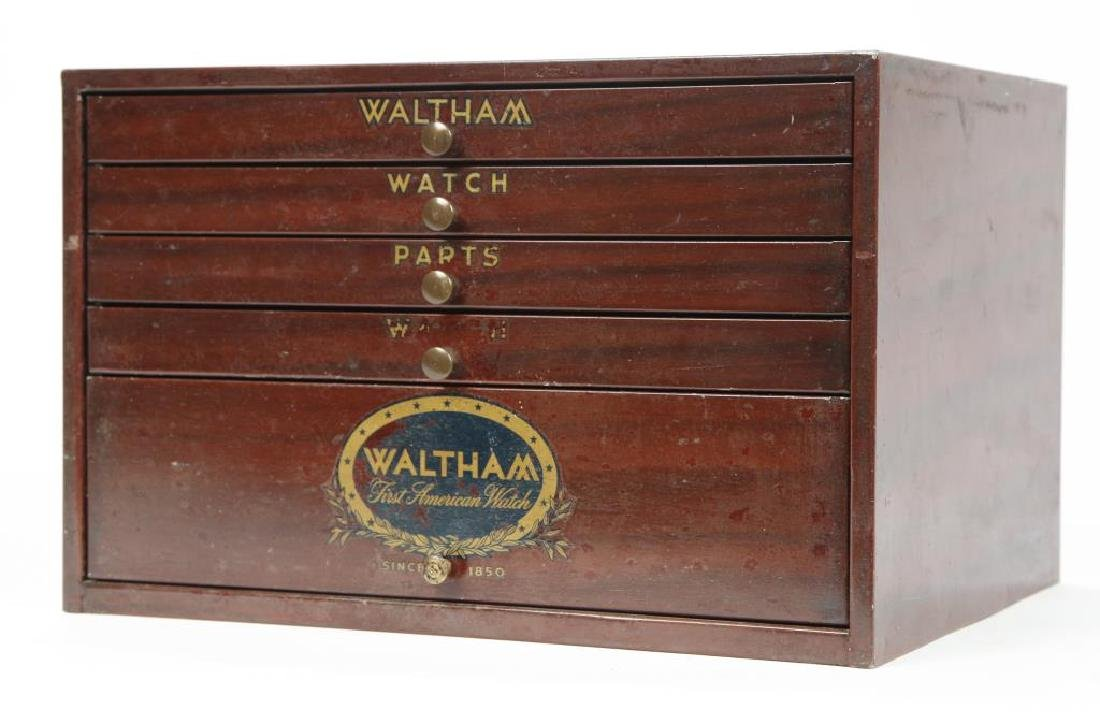 WALTHAM WATCH CO. METAL WATCH PART CABINET