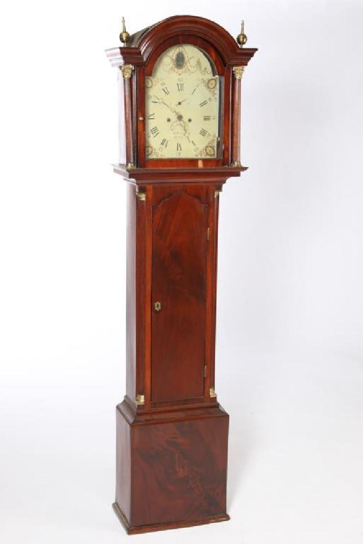 (19th c) MAHOGANY TALL CASE CLOCK