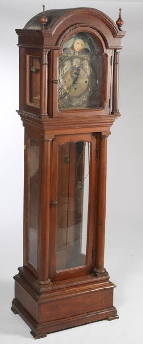 AMERICAN CLASSICAL MOON PHASE TALL CASE CLOCK