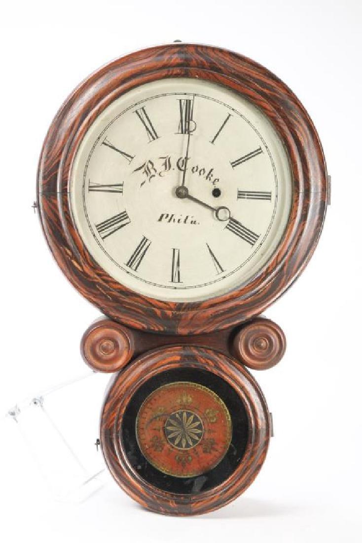 1861 INGRAHAM'S EIGHT DAY WALL CLOCK