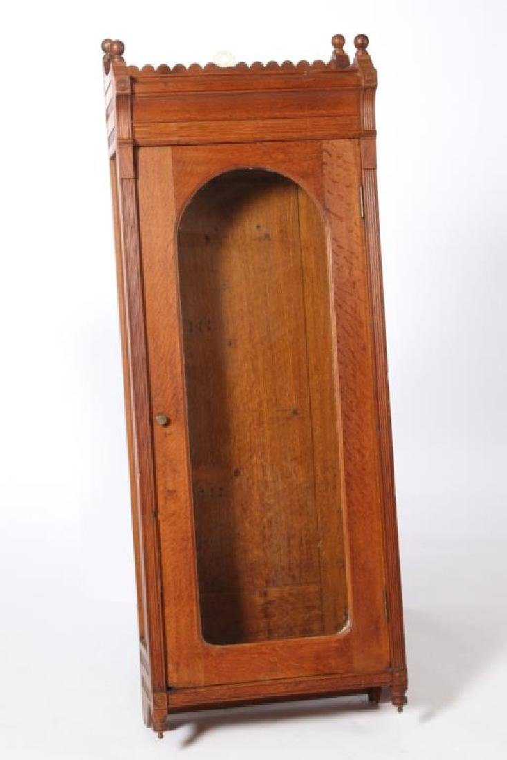 AESTHETIC MOVEMENT OAK CLOCK CASE