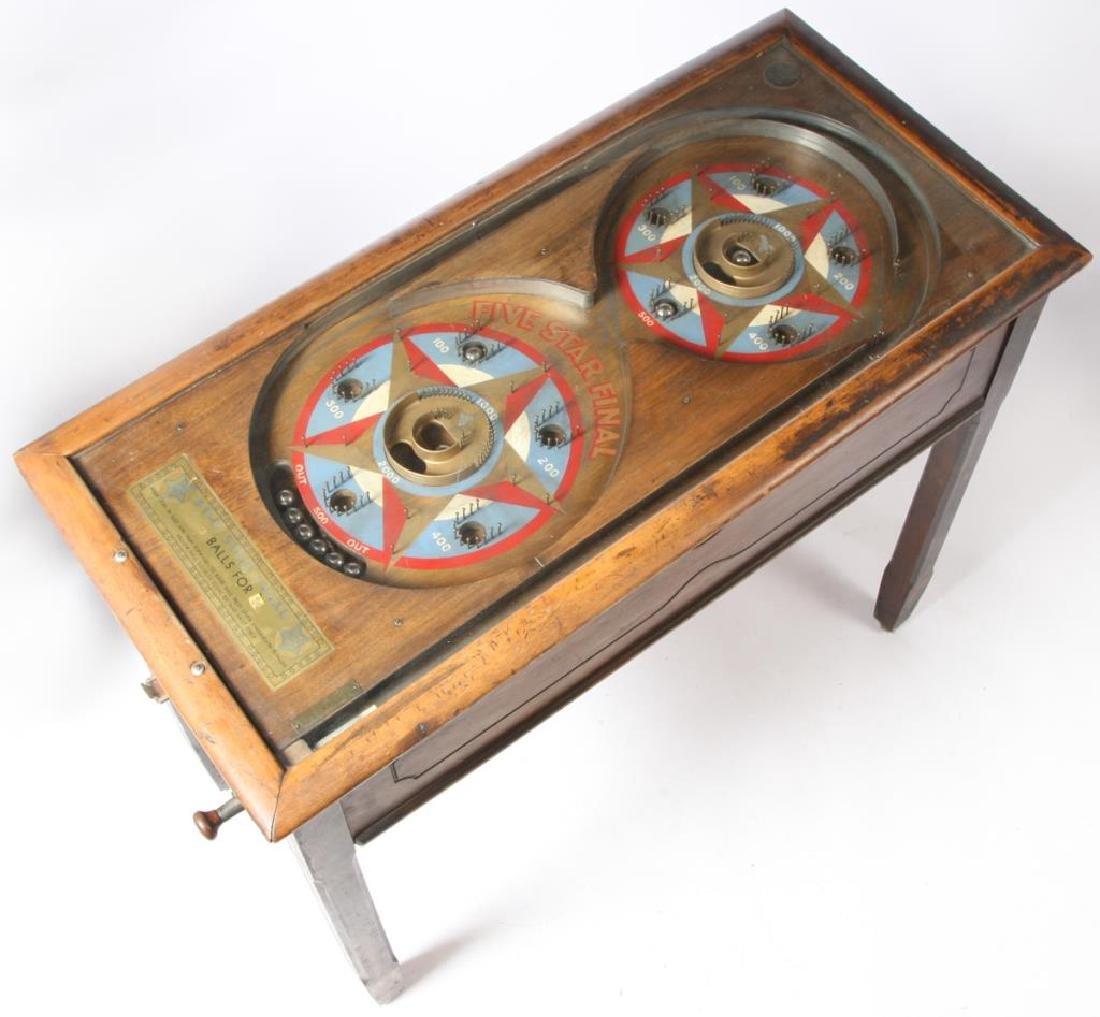 EARLY 1900'S FIVE STAR FINAL PINBALL MACHINE