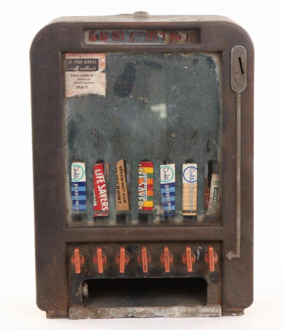 """ROWE"" ART DECO GUM AND MINT VENDING MACHINE"