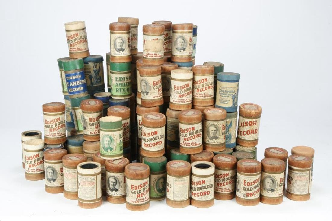 LOT OF OVER (80) CYLINDER RECORDS circa 1900