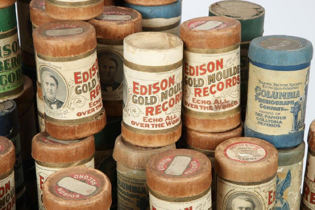LOT OF OVER (80) CYLINDER RECORDS circa 1900 - 4
