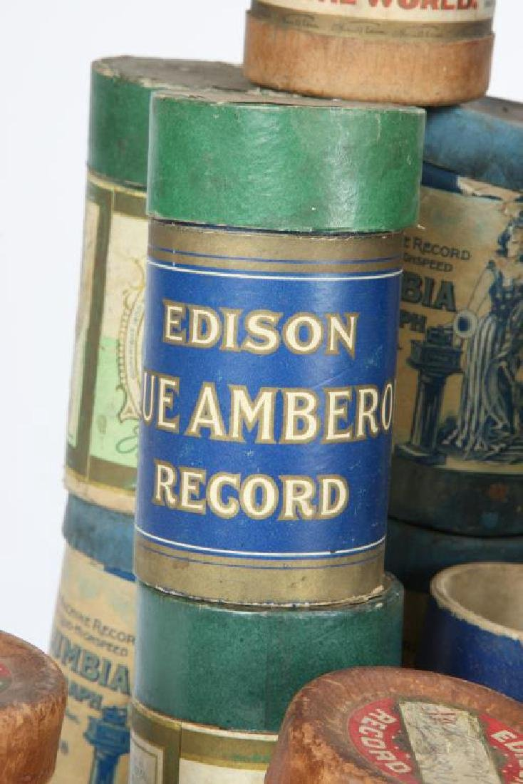 LOT OF OVER (80) CYLINDER RECORDS circa 1900 - 5