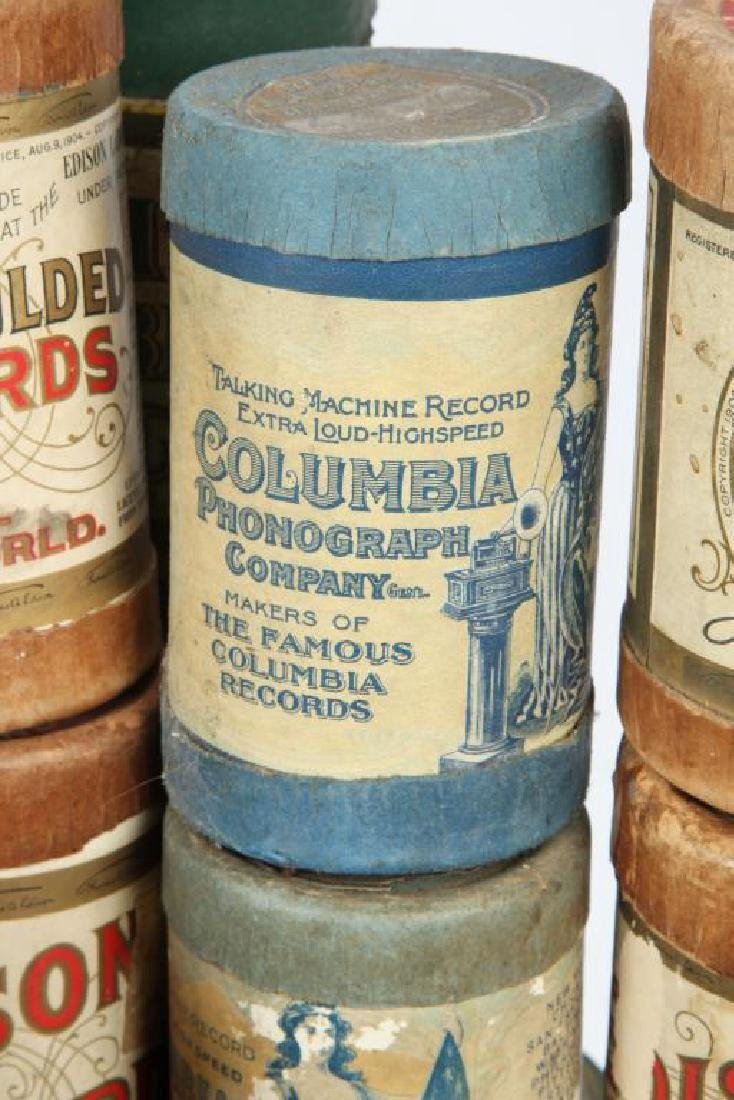 LOT OF OVER (80) CYLINDER RECORDS circa 1900 - 6