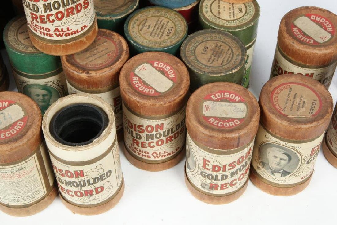 LOT OF OVER (80) CYLINDER RECORDS circa 1900 - 7