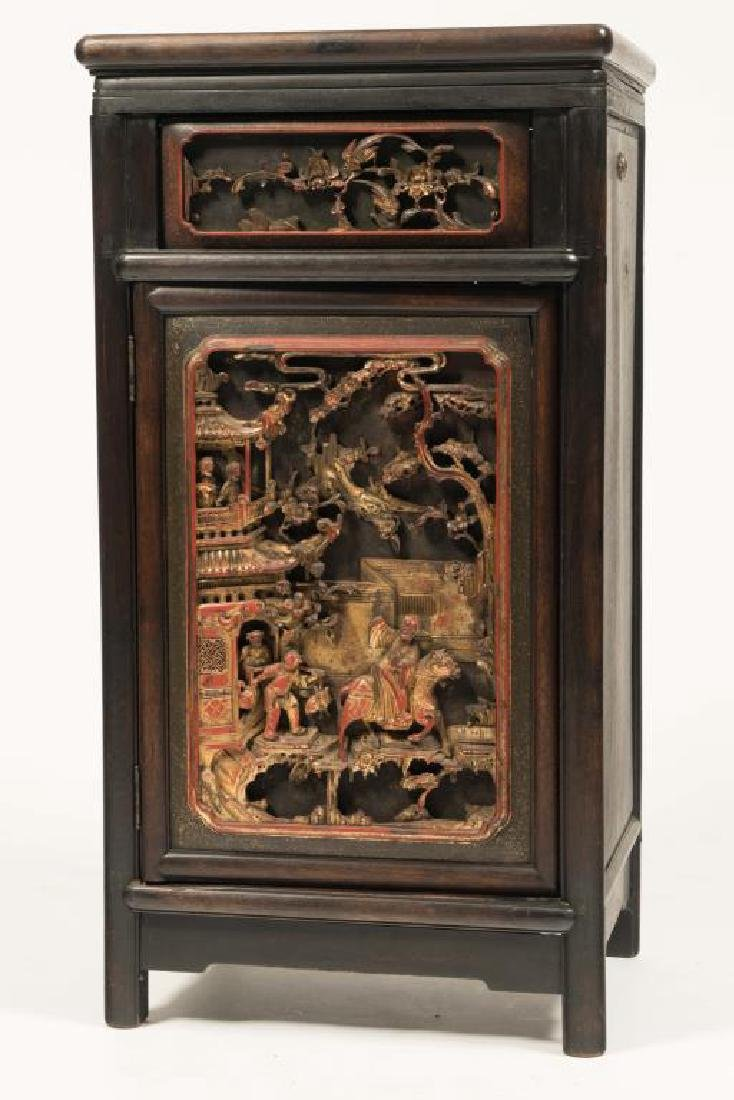 CHINESE ART CASE STANDING FLOOR MODEL PHONOGRAPH