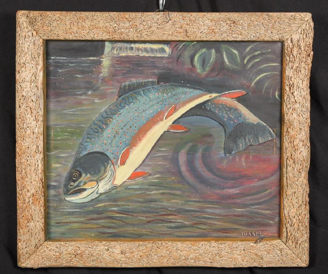 SPORTS FISHERMAN'S PAINTING OF A RAINBOW TROUT