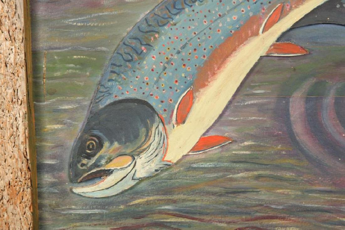 SPORTS FISHERMAN'S PAINTING OF A RAINBOW TROUT - 3
