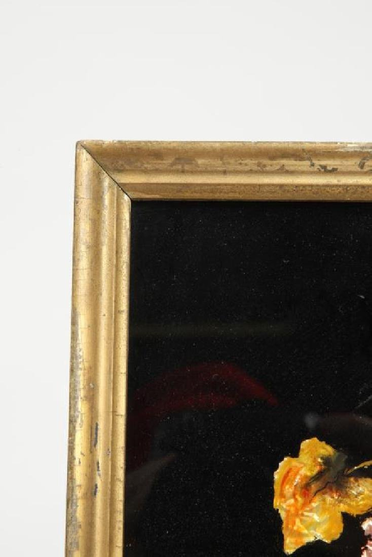 ANTIQUE TINSEL and REVERSE GLASS STILL LIFE - 4