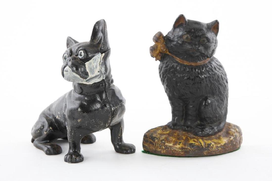 HUBLEY KITTEN DOOR STOP and FRENCH TERRIER EXAMPLE