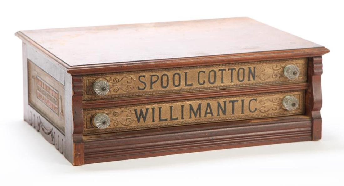 """WILLIMANTIC"" SPOOL COTTON GENERAL STORE CABINET"