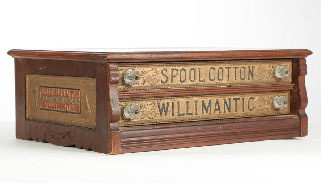 """WILLIMANTIC"" SPOOL COTTON GENERAL STORE CABINET - 4"