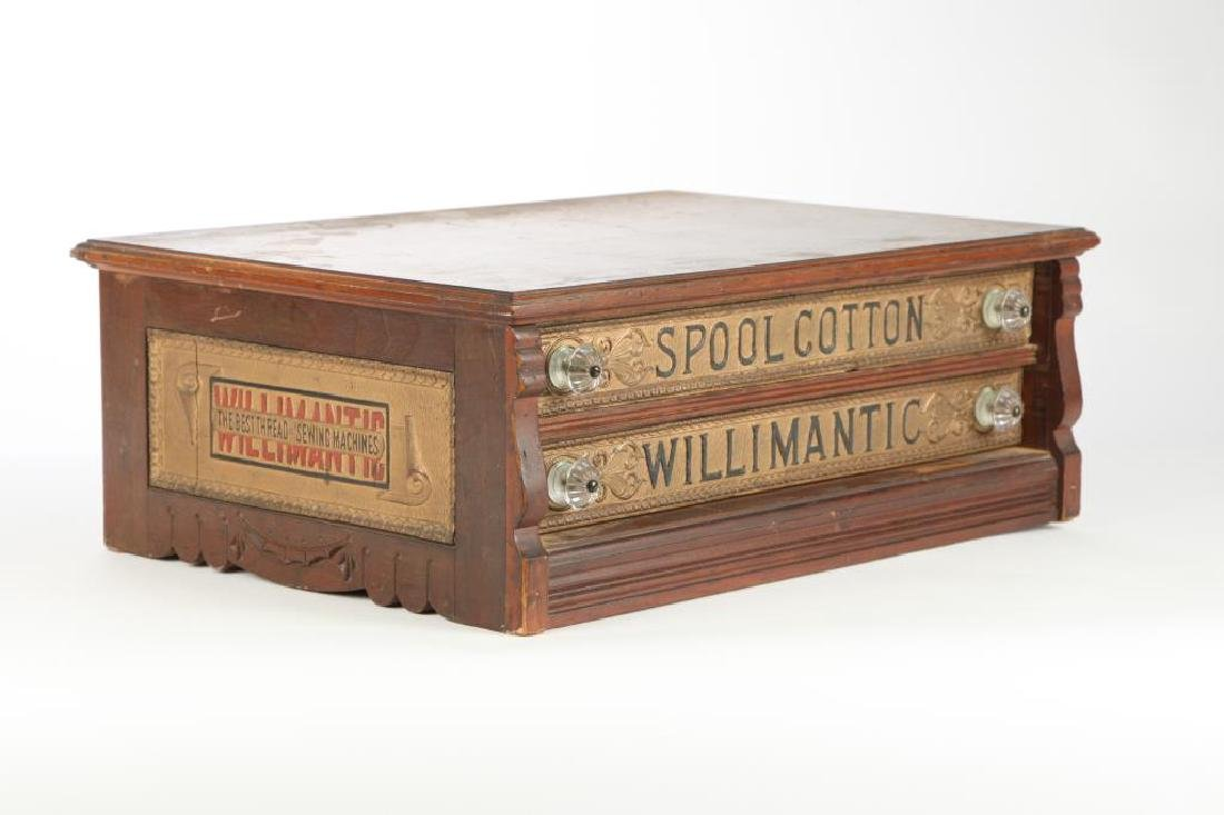 """WILLIMANTIC"" SPOOL COTTON GENERAL STORE CABINET - 5"