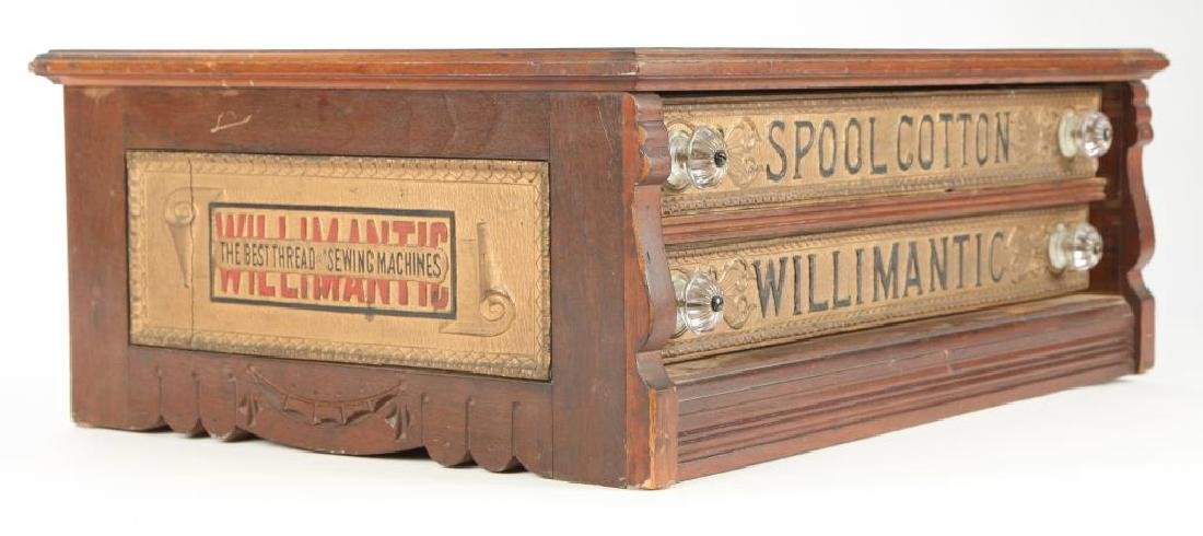 """WILLIMANTIC"" SPOOL COTTON GENERAL STORE CABINET - 7"