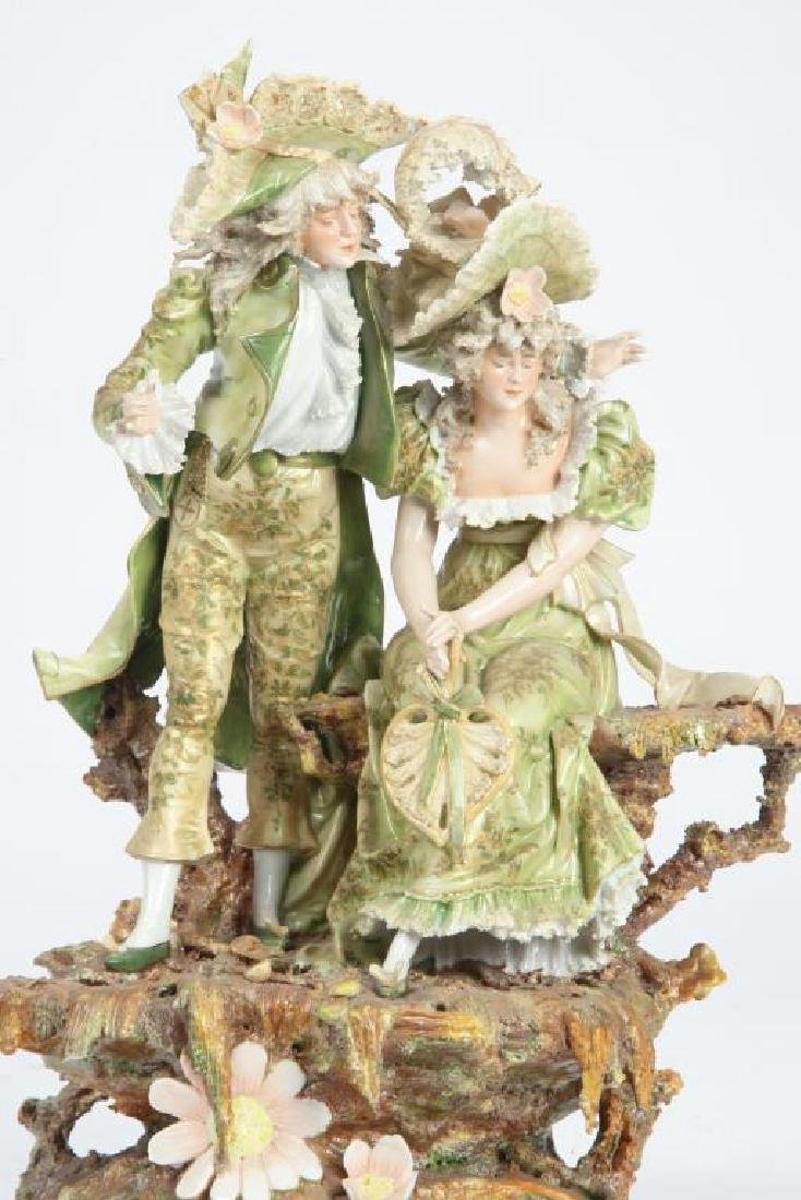 CONTINENTAL PORCELAIN FIGURE GROUP - 4
