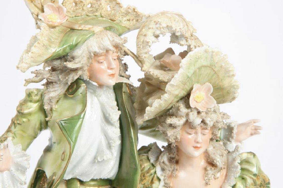 CONTINENTAL PORCELAIN FIGURE GROUP - 6