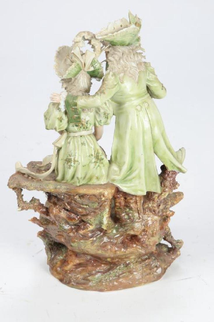 CONTINENTAL PORCELAIN FIGURE GROUP - 7