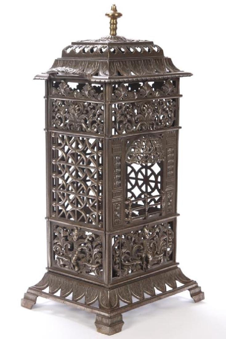 1860 NICKEL PLATED CHAUFFETTE / PARLOR STOVE