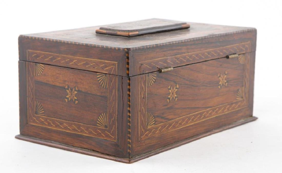 (19th c) BEAUTIFULLY INLAYED JEWELRY BOX