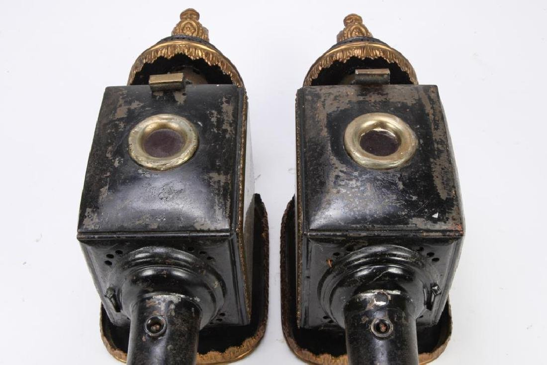 PAIR OF FANCIFUL CARRIAGE LAMPS - 2