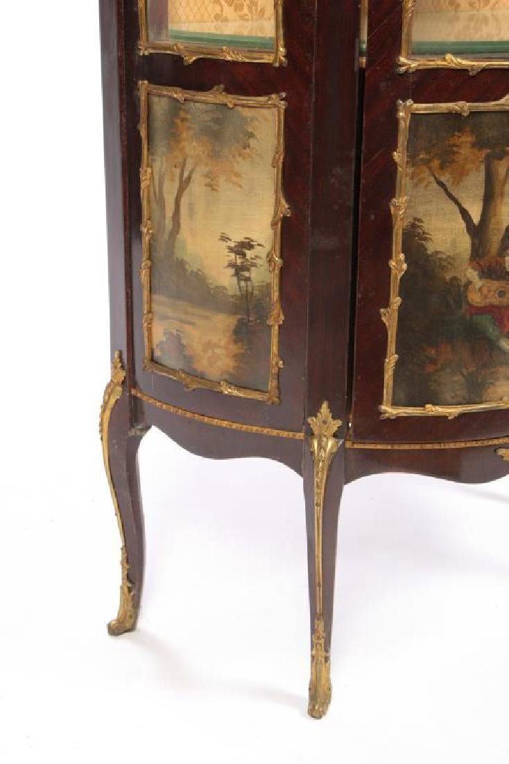 HAND PAINTED FRENCH VITRINE with ORMOLU MOUNTS - 2