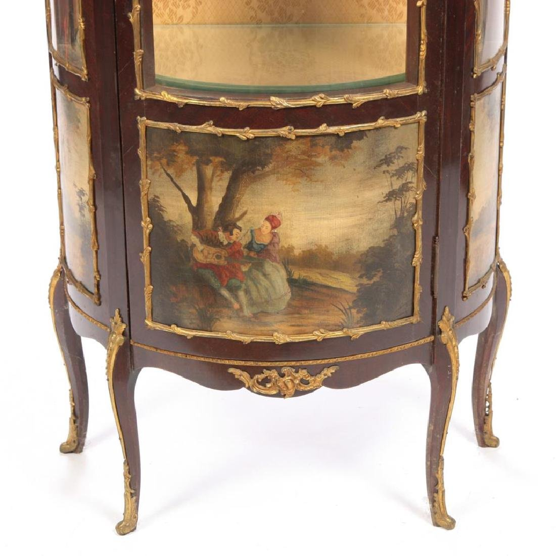 HAND PAINTED FRENCH VITRINE with ORMOLU MOUNTS - 3