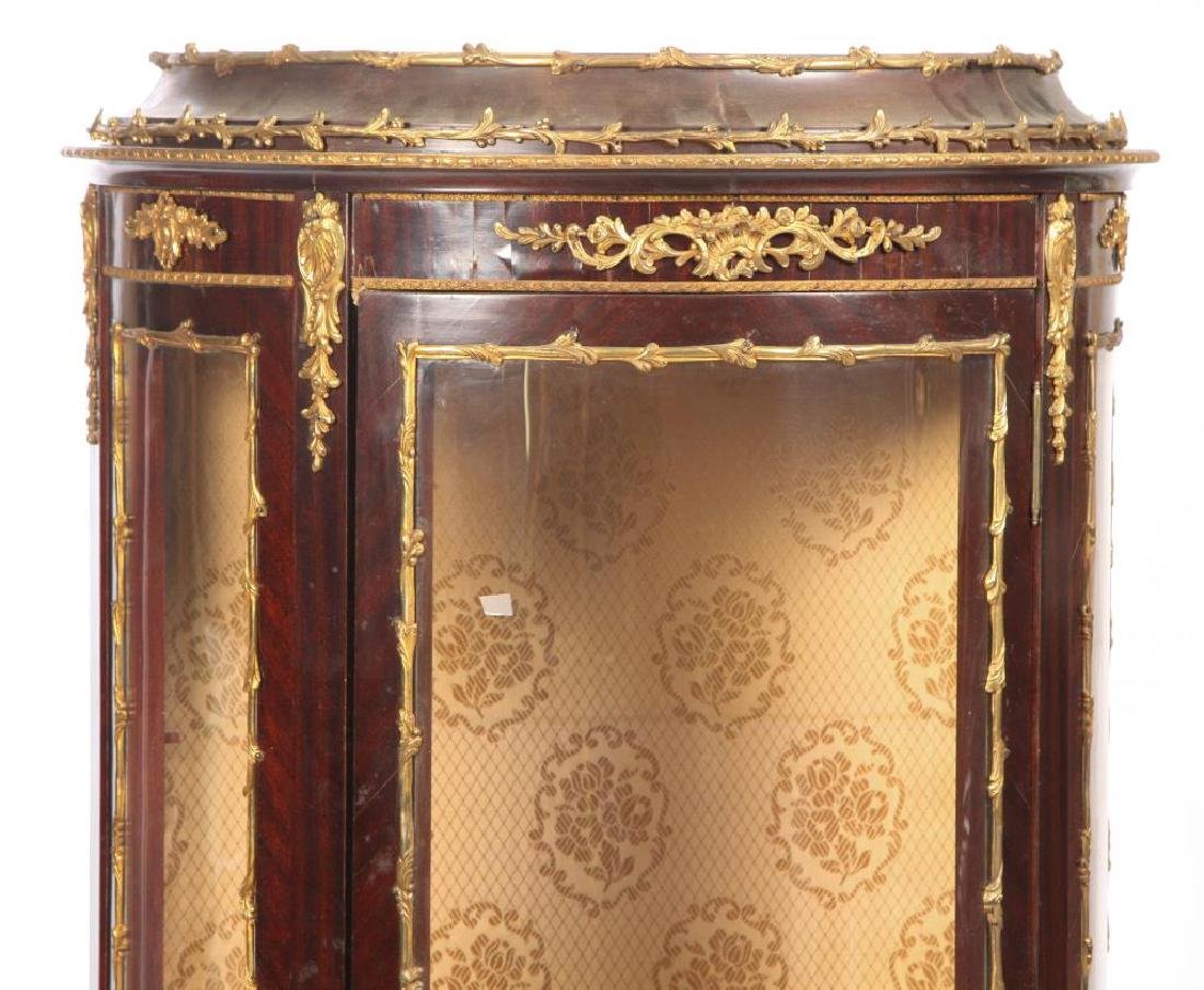 HAND PAINTED FRENCH VITRINE with ORMOLU MOUNTS - 5