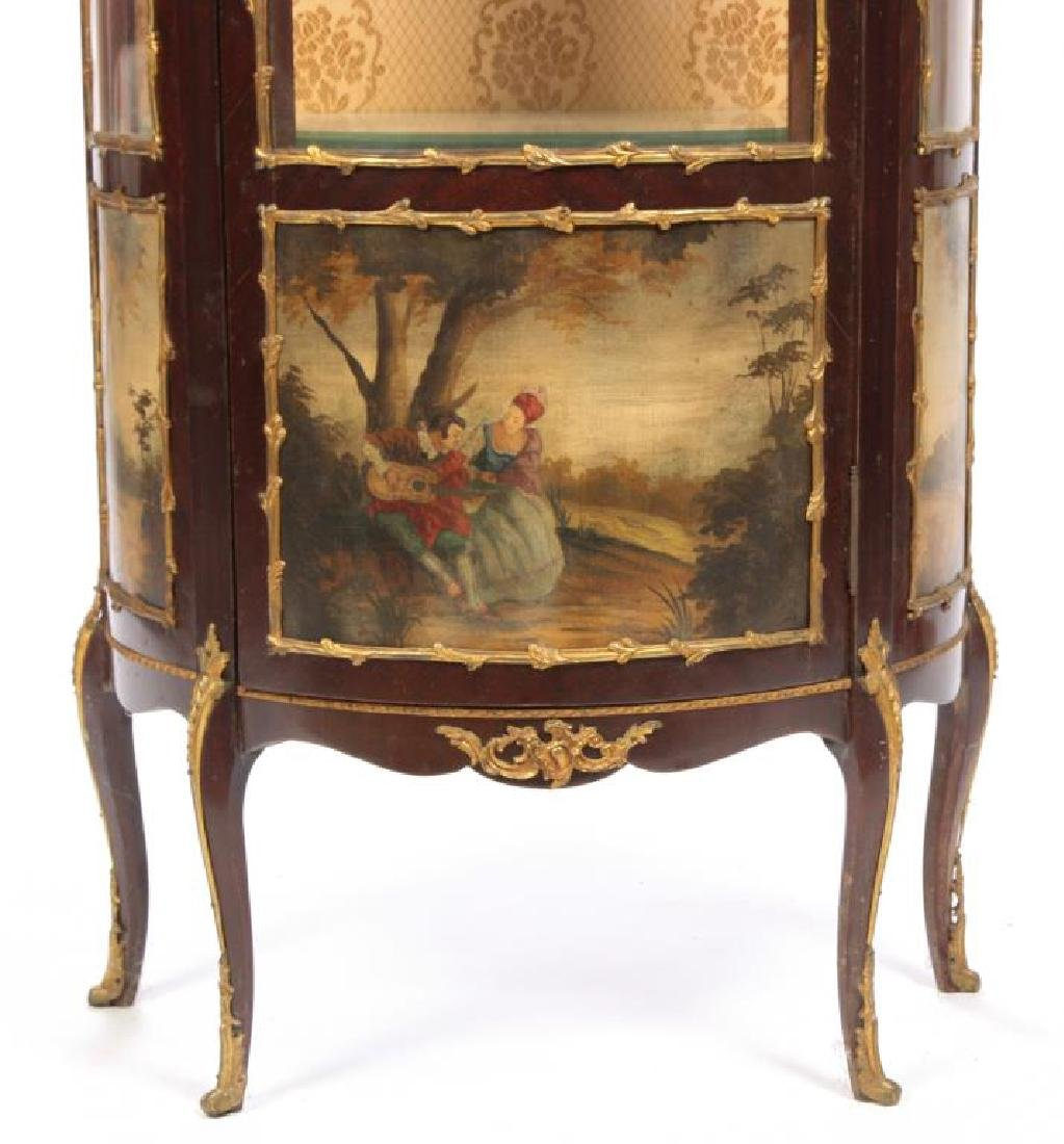 HAND PAINTED FRENCH VITRINE with ORMOLU MOUNTS - 6