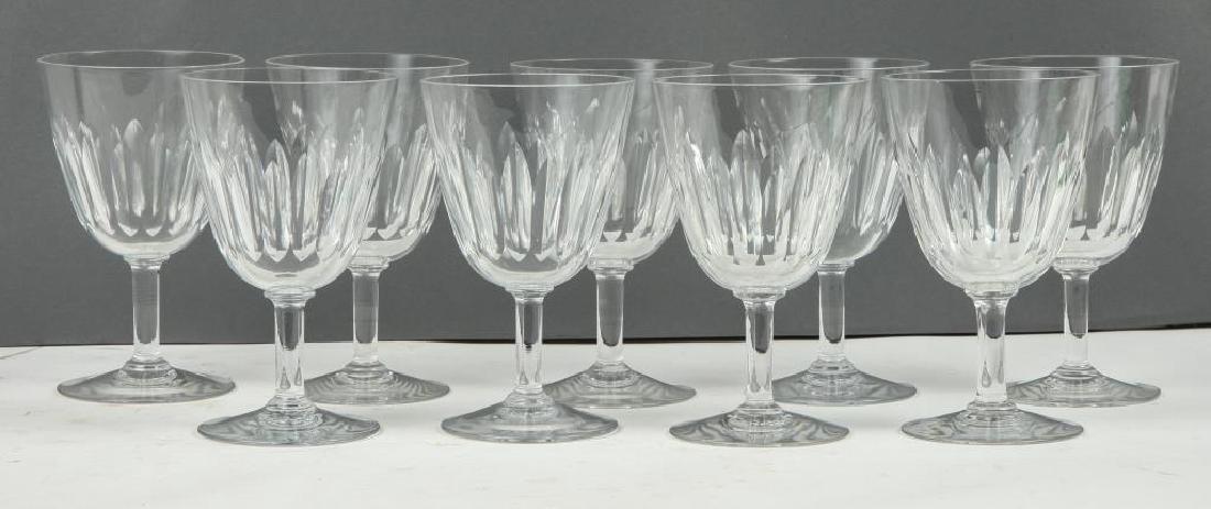 (9) BACCARAT CRYSTAL WINE GLASSES