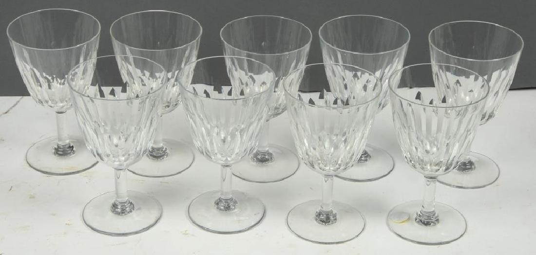 (9) BACCARAT CRYSTAL WINE GLASSES - 3