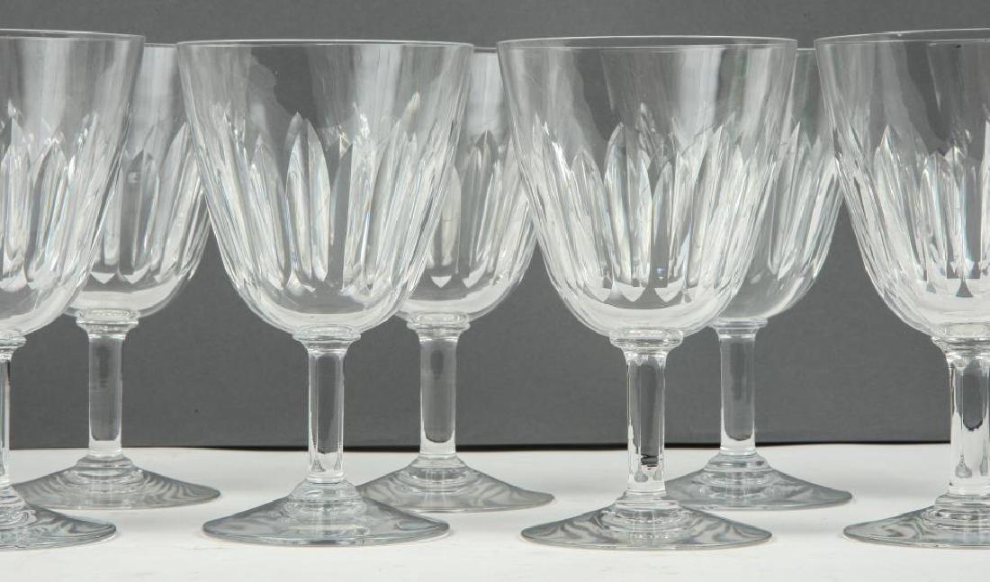 (9) BACCARAT CRYSTAL WINE GLASSES - 4