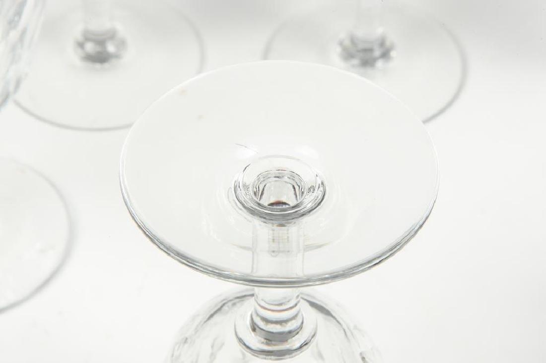 (9) BACCARAT CRYSTAL WINE GLASSES - 5