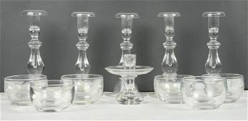 12 PIECES OF STEUBEN CRYSTAL
