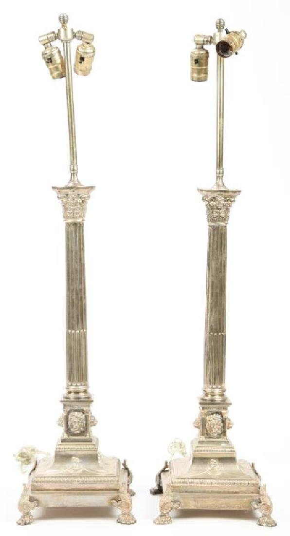 PAIR OF HALLMARKED NEO-CLASSICAL TABLE LAMPS