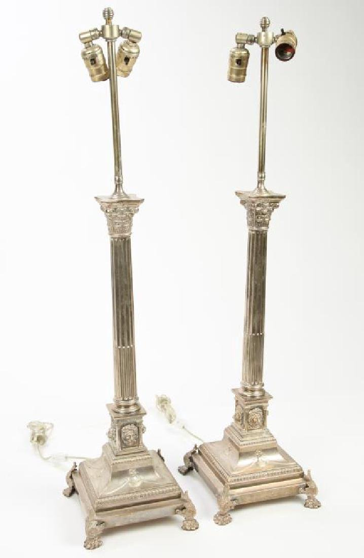 PAIR OF HALLMARKED NEO-CLASSICAL TABLE LAMPS - 2