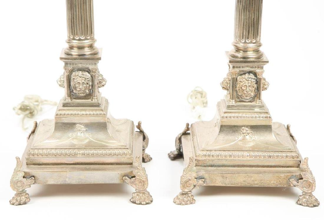 PAIR OF HALLMARKED NEO-CLASSICAL TABLE LAMPS - 4