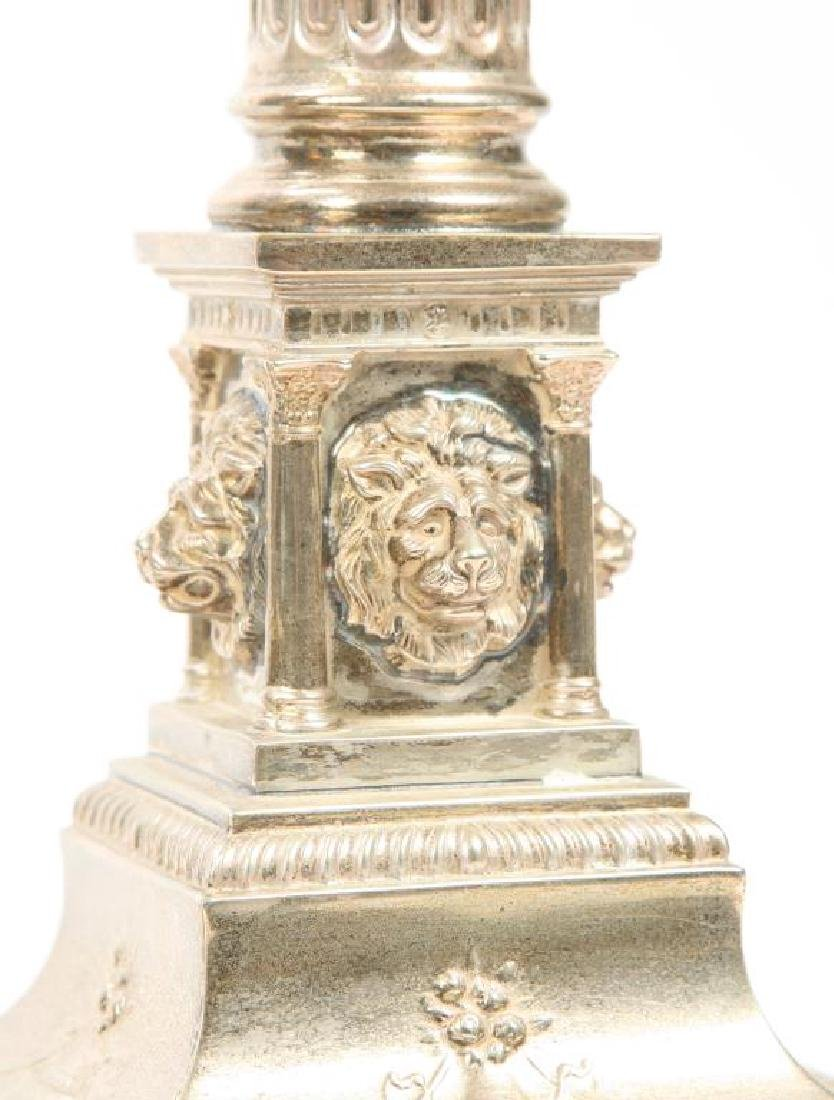 PAIR OF HALLMARKED NEO-CLASSICAL TABLE LAMPS - 5