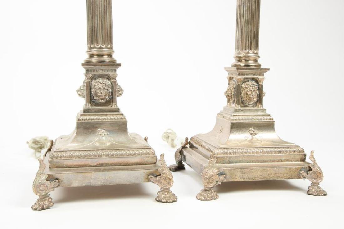 PAIR OF HALLMARKED NEO-CLASSICAL TABLE LAMPS - 6