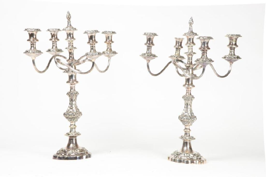 PAIR OF GORHAM MFG CO SILVER PLATED CANDELABRAS