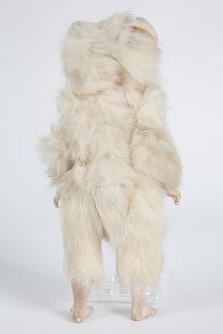GERMAN BISQUE DOLL IN FUR EASTER BUNNY COSTUME - 3