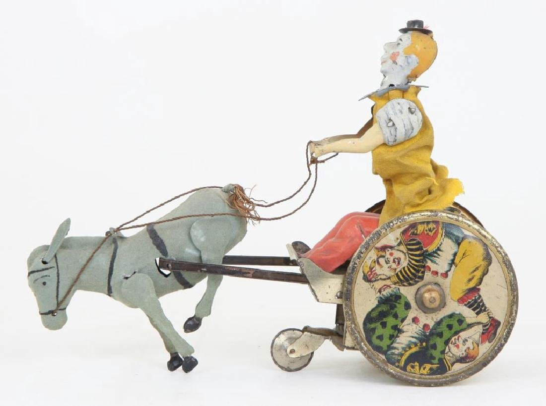 LEHMAN GERMANY CLOWN AND DONKEY WIND-UP TOY