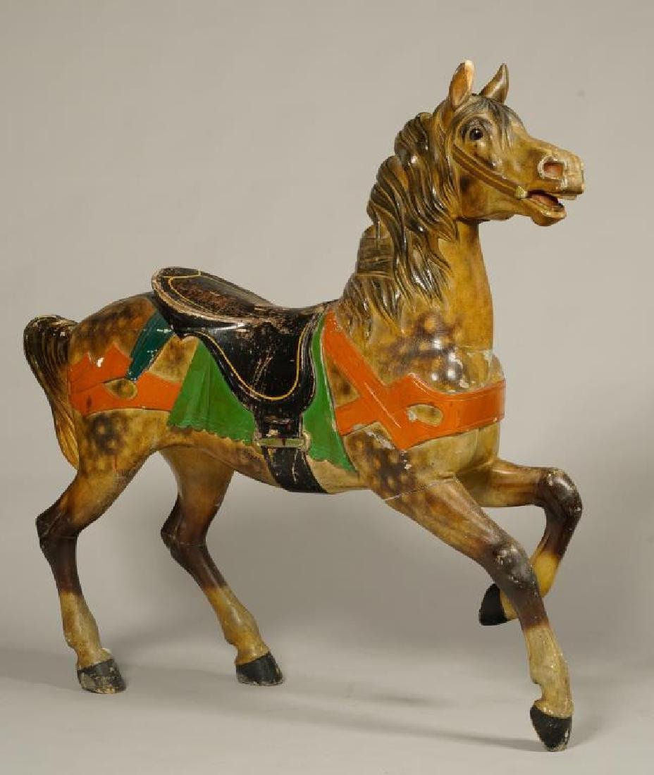 (LATE 19Th c) CAROUSEL HORSE IN GREAT OLD PAINT