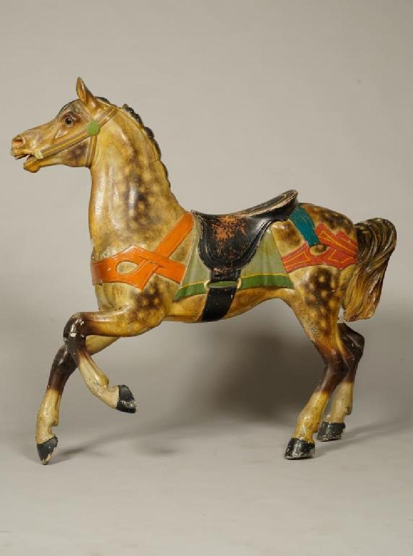 (LATE 19Th c) CAROUSEL HORSE IN GREAT OLD PAINT - 4