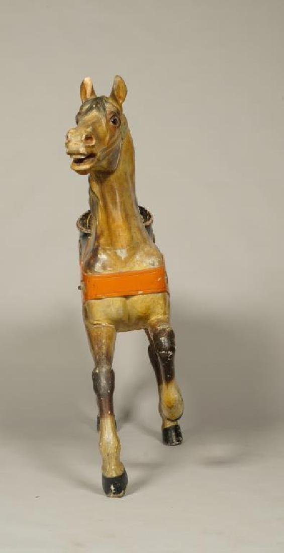 (LATE 19Th c) CAROUSEL HORSE IN GREAT OLD PAINT - 5
