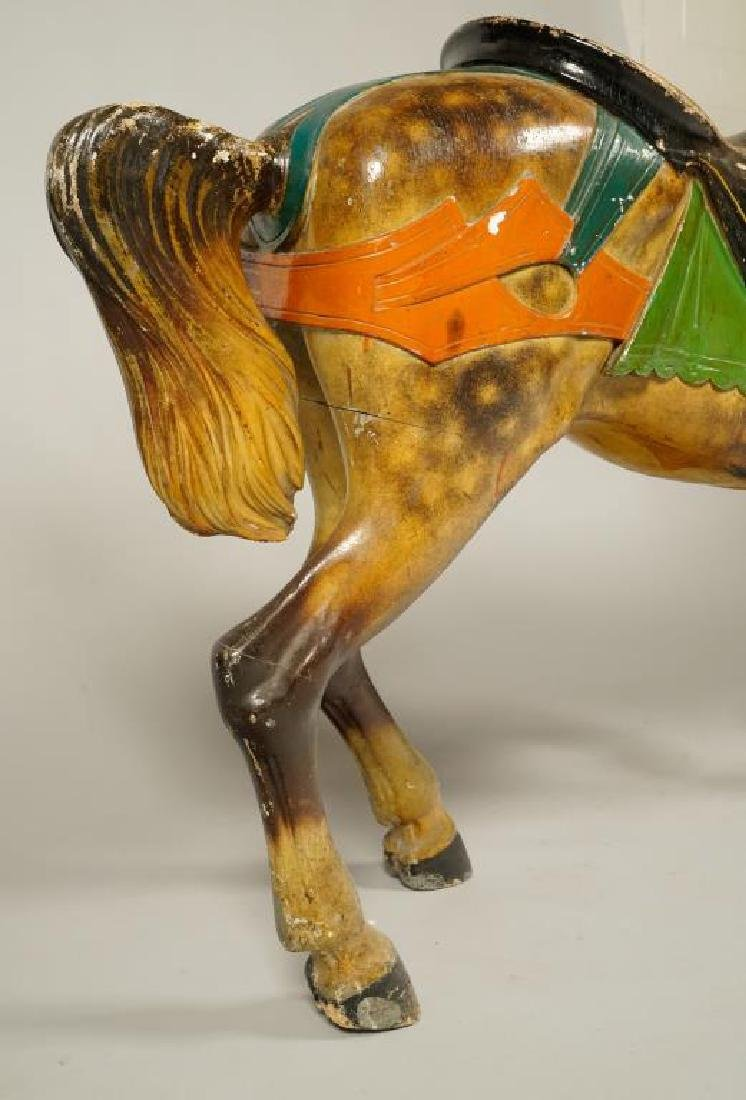 (LATE 19Th c) CAROUSEL HORSE IN GREAT OLD PAINT - 8